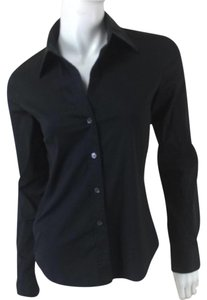 Theory Black Button Up Button Down Shirt