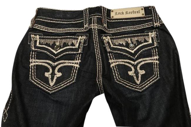 Item - Blue Dark Rinse Molly Style Number: E83868l Boot Cut Jeans Size 27 (4, S)