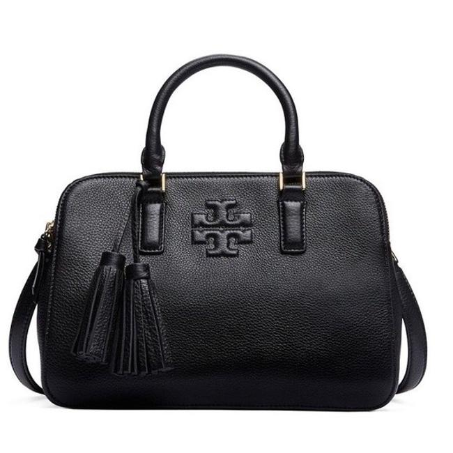 Item - Thea Rounded Black Leather Satchel
