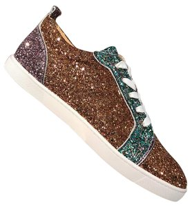 Christian Louboutin Gold Glitter Lace Sneaker Gondoliere pink Athletic