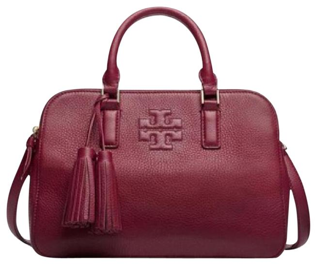 Item - Thea Rounded Wine Leather Satchel