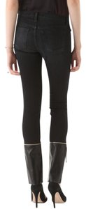 J Brand Denim Leather Skinny Zipper Stretch Skinny Jeans-Dark Rinse