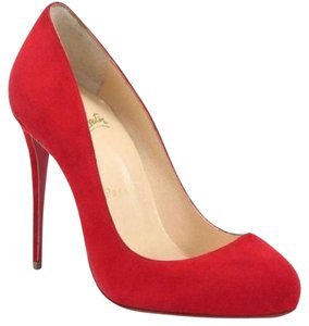 Christian Louboutin Heels Dorissima Suede Red Pumps