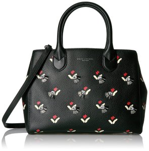 Marc Jacobs Embellished Tulip Print Gotham / Tote in Black / Multi