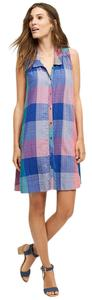 Anthropologie short dress Blue pink on Tradesy