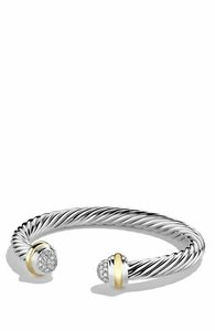 David Yurman David Yurman 7 mm Cable Bracelet With Diamonds