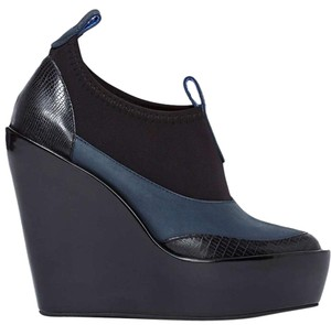 Jeffrey Campbell Navy/Black Wedges