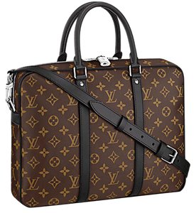 f8f89116f201 Added to Shopping Bag. Louis Vuitton Laptop Bag. Louis Vuitton Porte  Documents Voyage Pm Monogram Macassar Briefcase Work Tote Brown Canvas ...