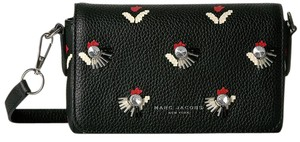 Marc Jacobs Embellished Tulip Print Leather / Cross Body Bag