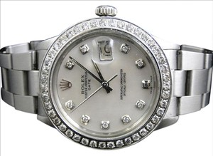 Rolex Mens Rolex Datejust 1 Watch with 2.15 Ct Diamond MOP Dial