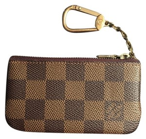 Louis Vuitton Brand New - Key Cles Or Coin Pouch Mini Wallet Damier Ebene Clutch