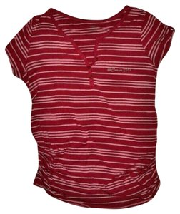 Motherhood Maternity Motherhood Maternity Dark Pink Stripe Top Size XL