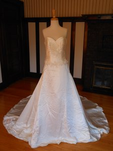 Pronovias Ivory Satin 6222 Destination Wedding Dress Size 14 (L)