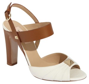Valentino Cognac, white Sandals
