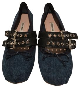 Miu Miu Denim Flats