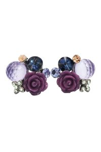 Ocean Fashion Mysterious flower purple crystal ball earrings