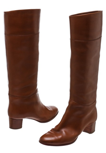Item - Tan Leather Tall 39) 207514 Boots/Booties Size US 9 Regular (M, B)