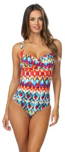 La Blanca La Blanca Serengeti Bandeau One Piece Swimsuit Bathing Suit Size 8