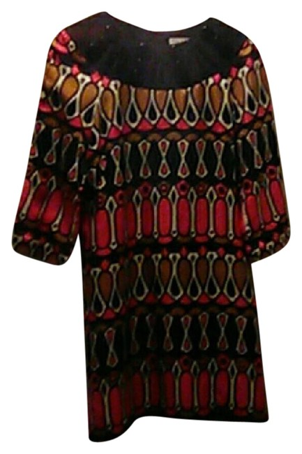 Preload https://item5.tradesy.com/images/milly-of-new-york-black-pink-gold-white-yorkfree-shipping-mid-length-workoffice-dress-size-6-s-20787149-0-1.jpg?width=400&height=650
