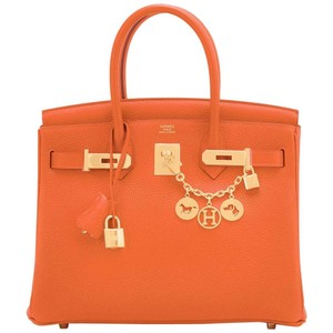 Hermès Birkin Birkin 30 30 B30 Satchel in Orange