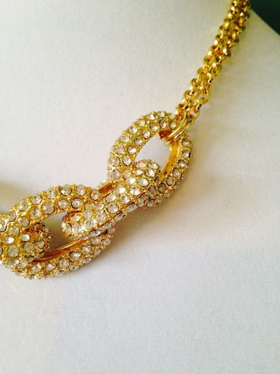 Panacea Cache Gold Pave Crystal Link Necklace