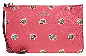 Coach 57317 Cherry Print Novelty Sold Out Rare Wristlet in Pink