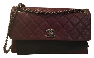 Chanel Leather Chain Front Flap Classic Calfskin Shoulder Bag