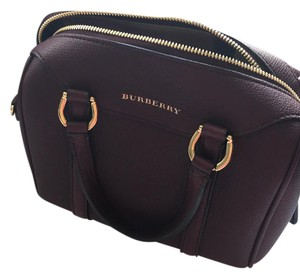 Burberry Leather Tote in mahogany