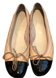 French Sole beige /black Flats
