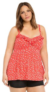 Torrid Bird Print Festival Casual Top Red