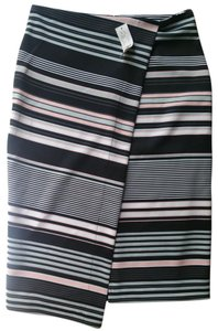 New York & Company Wrap Skirt Pink, Black, Grey
