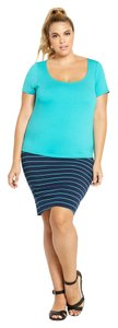 Torrid Keyhole Cut-out Ponte Knit Top Turquoise Blue