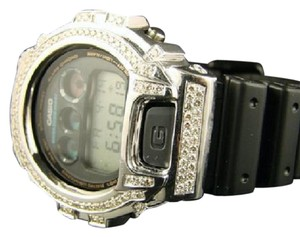 G-Shock Casio Mens G Shock 6900 Aqua Master White Simulated Diamond Watch