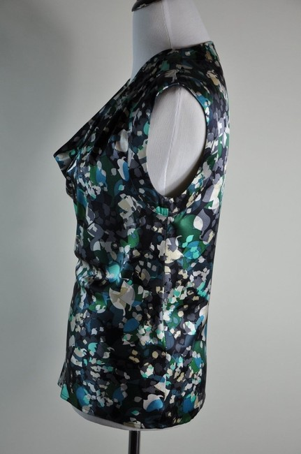 Other Silk Floral Sleeveles Astract Top
