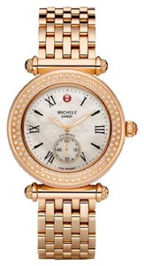 Michele $2500 NWT CABER DIAMOND ROSE GOLD-TONE MOP WATCH MWW16A000044