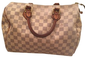 Louis Vuitton Satchel in White / Grey