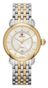 Michele $1400 NWT 'CSX 36' Elegance MOP Two-tone WATCH MWW03T000064