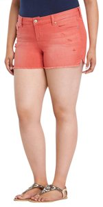 Torrid Destucted Skinny Distressed Casual Vacation Mini/Short Shorts Red