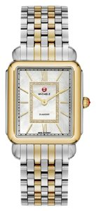 Michele $1400 NWT Deco II MOP Diamond Two-Tone WATCH MWW06X000017