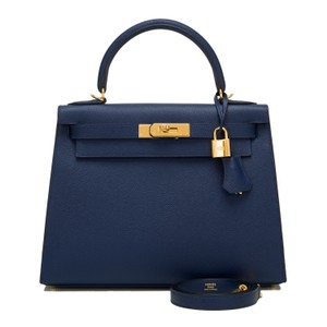 Hermès Kelly Blue Satchel