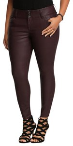 Torrid Faux Leather Leatherette Vegan Leather Jegging Date Night Skinny Pants Oxblood Red