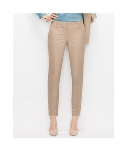 Ann Taylor LOFT Ankle Length Casual Resort Skinny Pants Beige