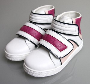 Gucci White/Pink/Purple Kids Leather Coda Pop High-top Sneaker G 32/ Us 1 301353 301354 Shoes