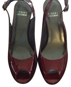 Stuart Weitzman candy apple red Platforms