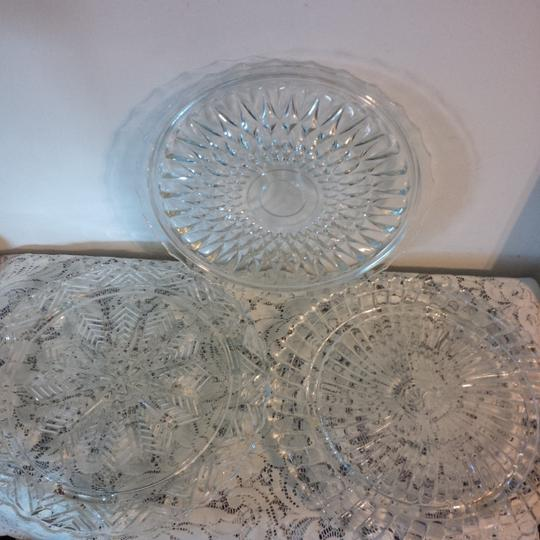 Clear Cake Plates & 1 Platter ~ Great For Dessert Or Cupcake Bar Reception Decoration