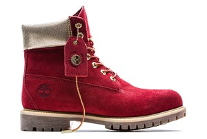 Timberland Limited Edition Valentine Gift Nauty Or Nice Red & Gold Boots