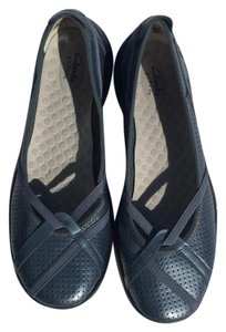 Clarks women flat 798590h denim Flats