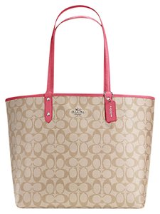 Coach Satchel 36658 Tote in SILVER/ strawberry