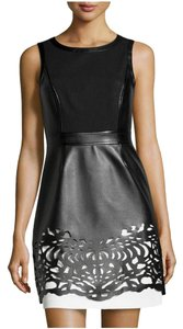 Laundry by Shelli Segal Faux Leather Dress