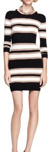 French Connection short dress black/ivory/ecru on Tradesy